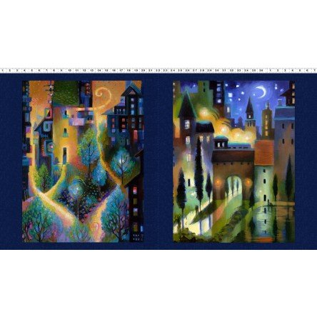 City Dreams Digital Panel Y2775-96 DK Indigo