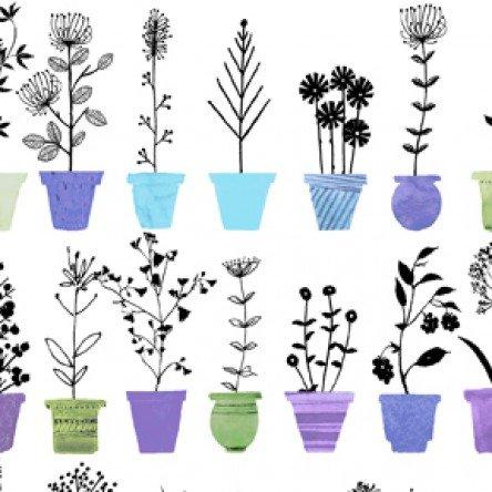 Sunday Afternoon Flower Pot Stripe Y2885-27 Purple