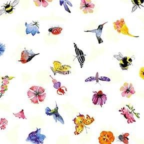 Flower Talk Nature Ditsy Y3012-1 White