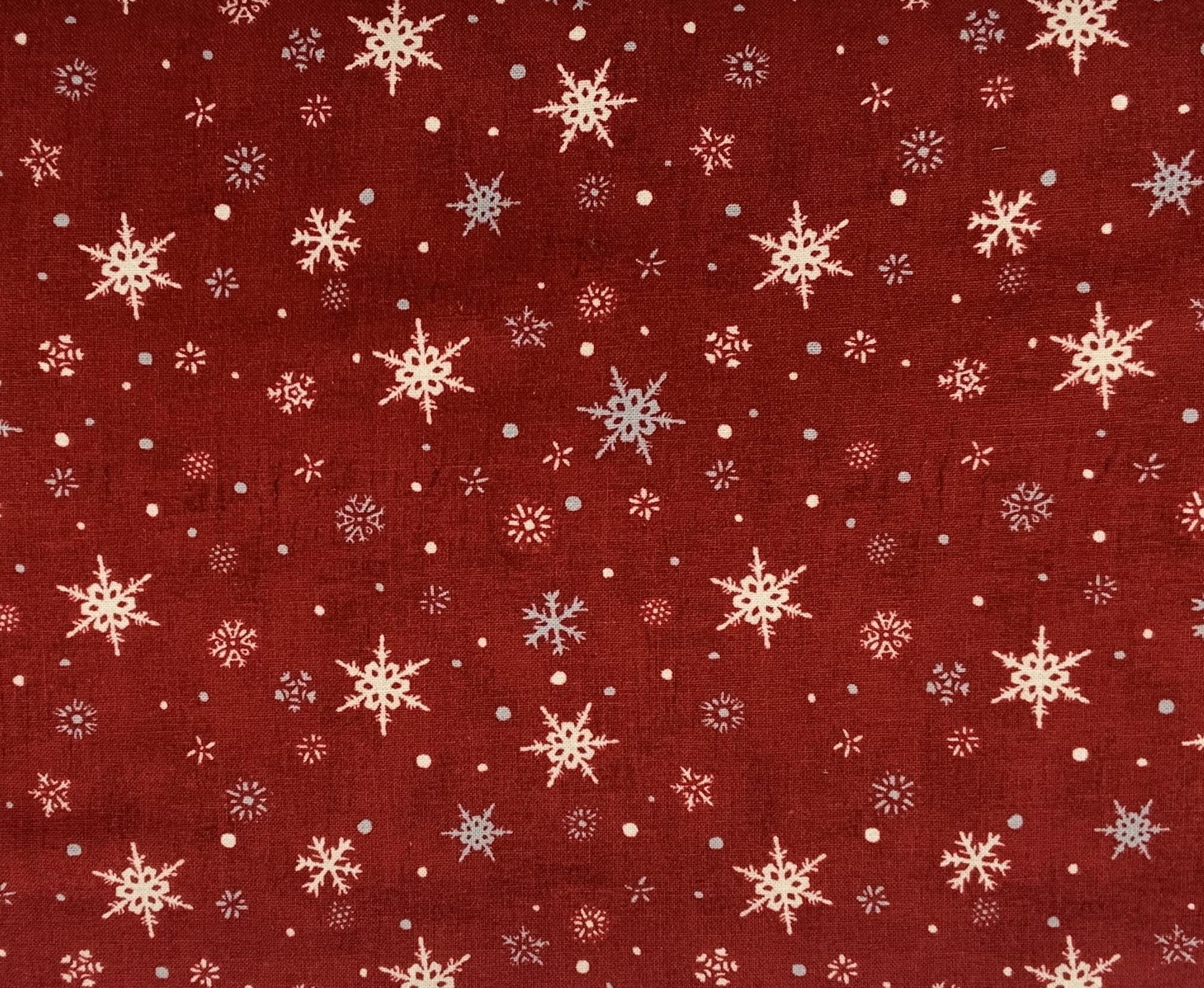 Holiday in the Woods - Snowflakes Red