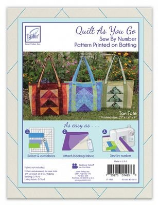 Quilt As You Go Tori Tote Pattern