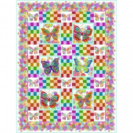 Unusual Garden II  Butterfly Quilt