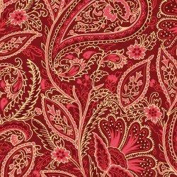 Glad Tidings - Elegant Paisley Red