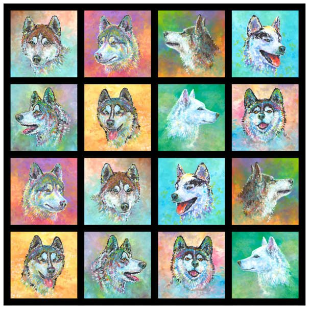 Silly Siberians Panel 42x41