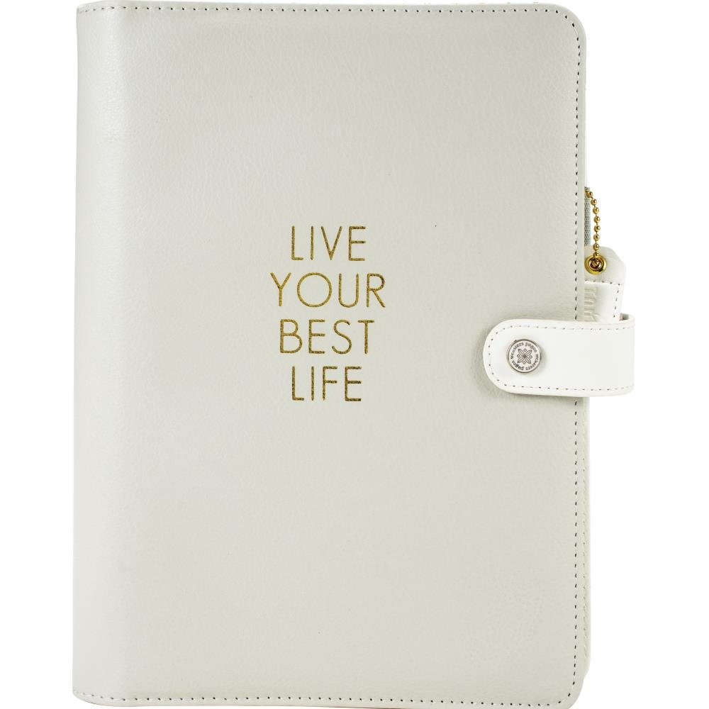 Webster's Pages - Color Crush A5 Faux Leather 6-Ring Planner Binder - Live Your Best Life -...