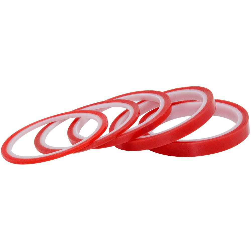 Walther Strong - Red Liner Tape Bundle -1x12mm, 1x9mm, 1x6mm, 2x3mm