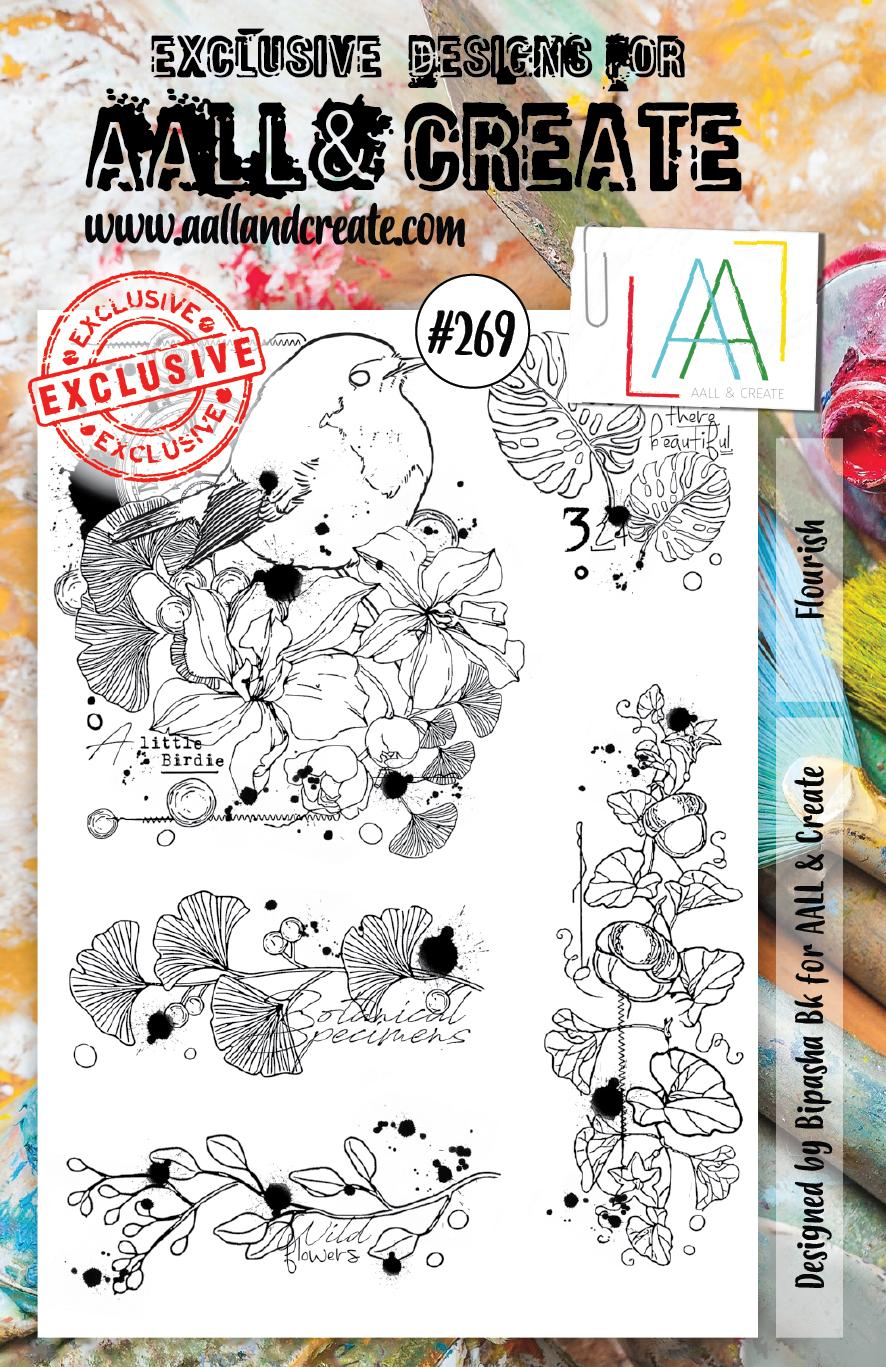 AALL & Create #269 - Flourish - A5 Stamp Set