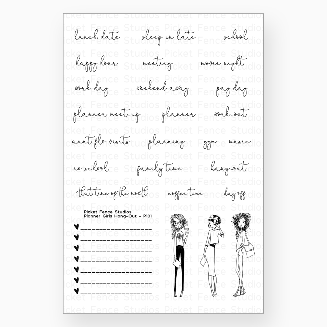 Picket Fence - Planner Girls Hang Out Stamp Set