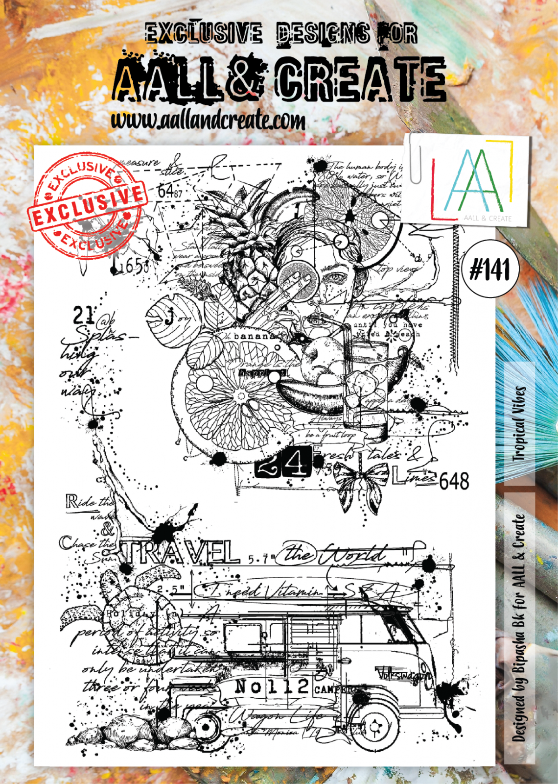 AALL & Create #141 - Tropical Vibes - A4 Stamp Set
