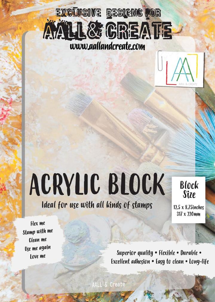 AALL & Create A4 Acrylic Block 12.5' x 8.75'