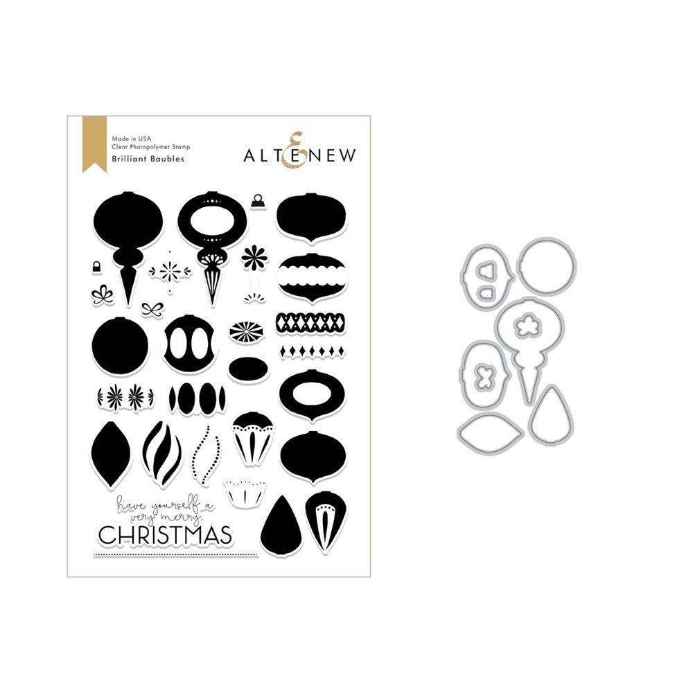 Altenew - Brilliant Baubles Stamp & Die Bundle