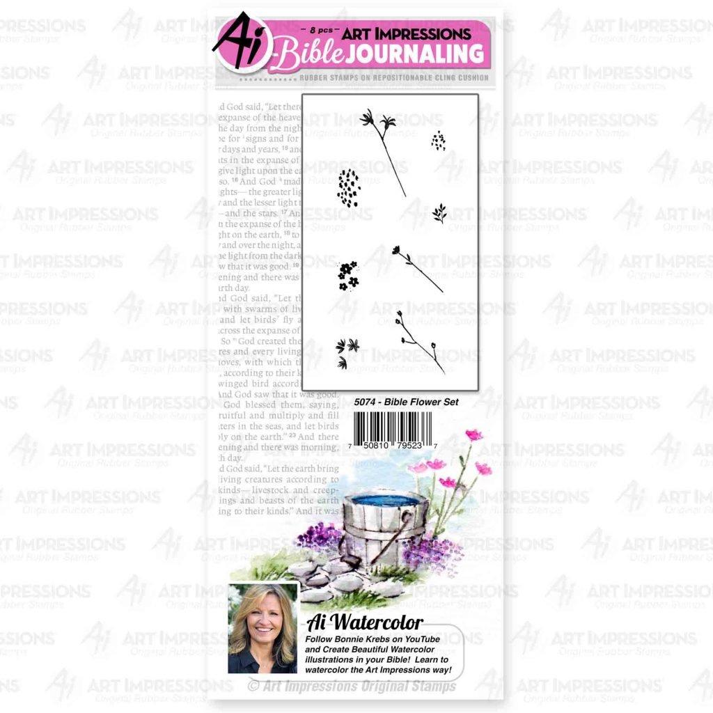 AI - Bible Journaling - Bible Flower Stamp