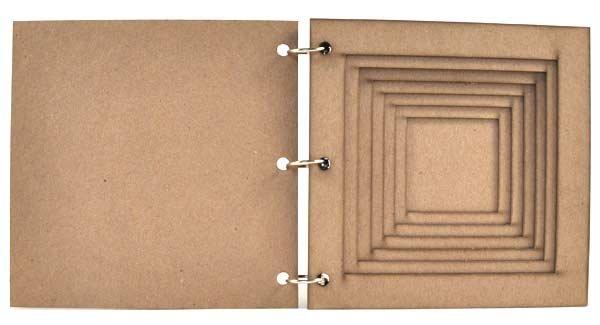 Joggles - 6 x 6 Tunnel Book - Square  Tunnel