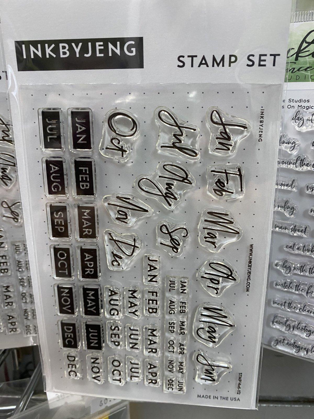 Inkbyjeng - Planner Stamp Set Months