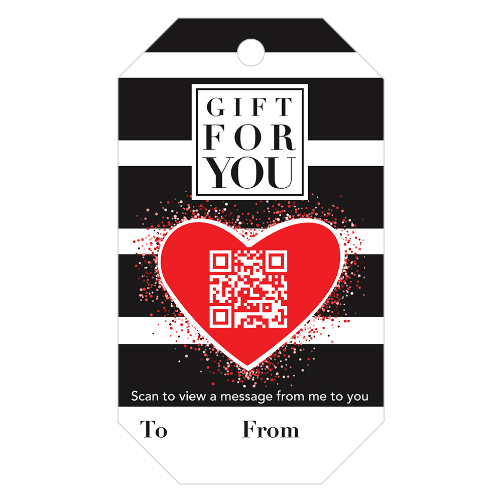 Penless Video Gift Tags - A Gift For You Heart 4/pc