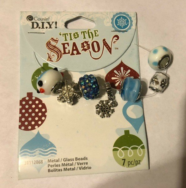 Cousin - 'Tis the Season - Metal/Glass Beads 7pc