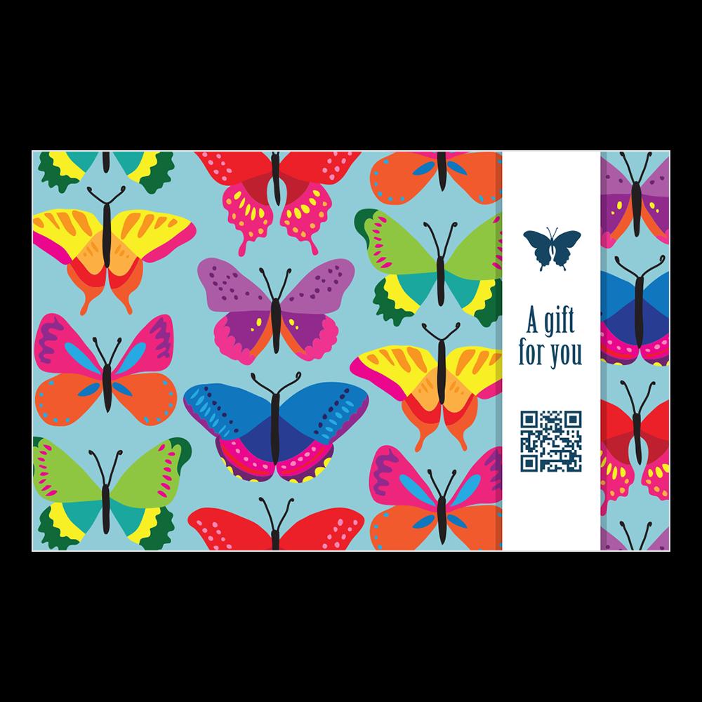 Penless Video Gift Card Holder - Butterfly