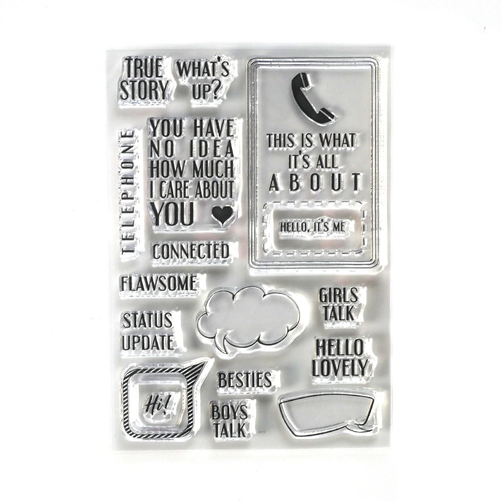 Elizabeth Craft - Clear Stamps - Phonebooth Special