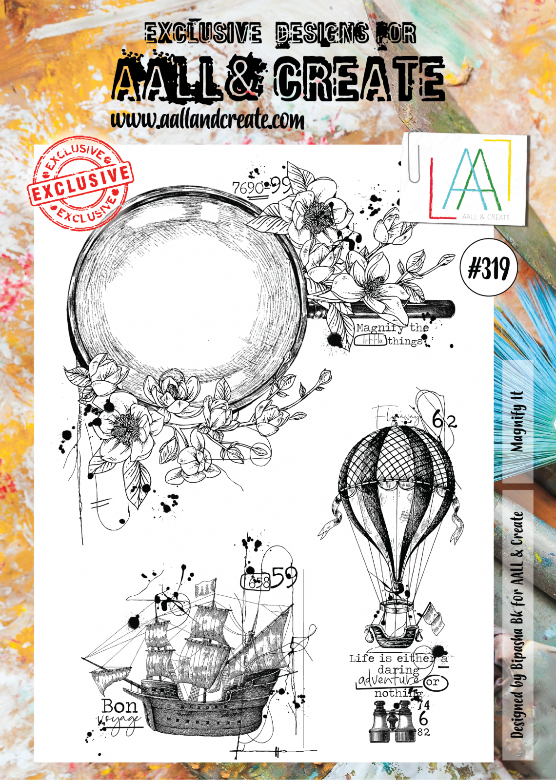 AALL & Create #319 - Magnify It - A4 Stamp Set
