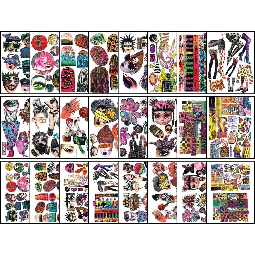 Dylusions - Collage Sheets 8.5X11 24/Pkg - Set 1