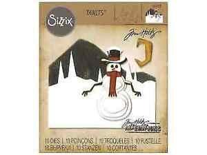 Tim Holtz - Thinlits Dies - Snowman Scene