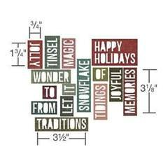 Tim Holtz - Thinlits Dies - Holiday Words 2 Block