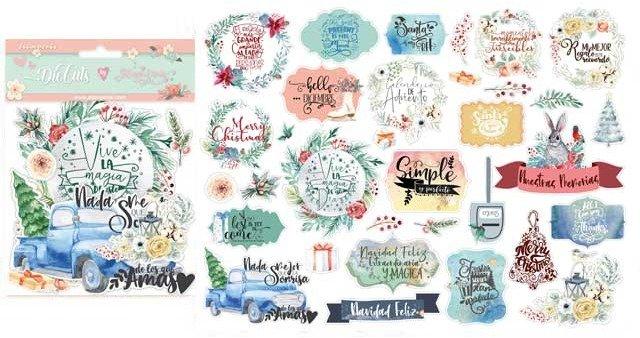 Stamperia - Gratitud - Labels - Die Cuts by Johanna Rivero
