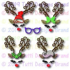 Tutti Designs - Build a Reindeer Face Die