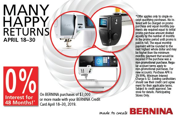 April Machine Promotion
