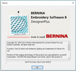 About BERNINA Embroidery Software Screen
