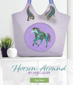 Horsen Around Embroidery Design