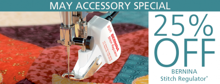 BERNINA Stitch Regulator - Accessory of the Month - May 2020