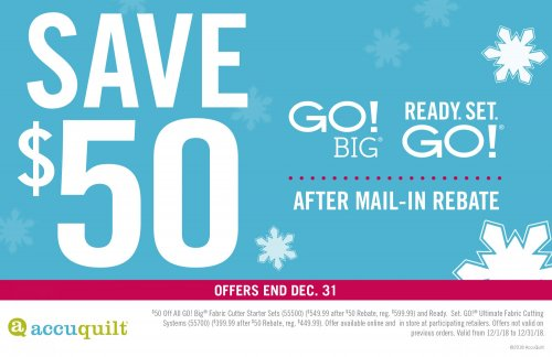 $50 Mail-in Rebate on GO! Big and Ready.Set.Go!