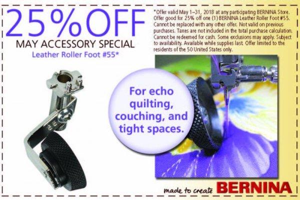 May 2018 accessory coupon