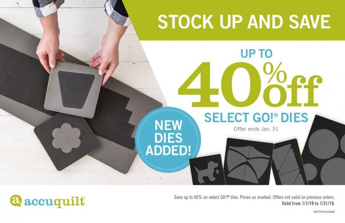 Up to 40% off Select Dies