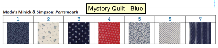 Mystery Quilt - Blue