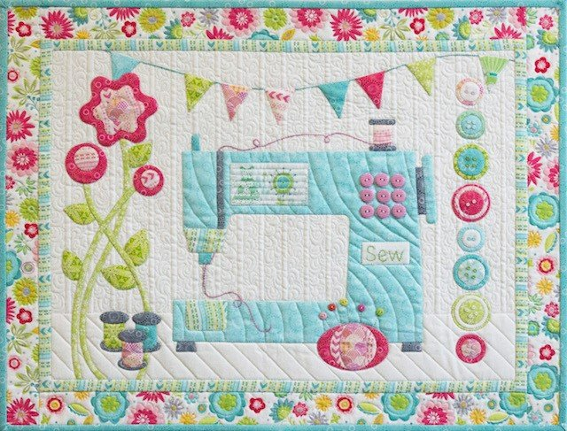 Cherry Guidry Sewing Room Machine Applique Free Motion Quilting Inspiration How To Applique With Regular Sewing Machine