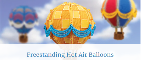 Free Standing Hot Air Balloons