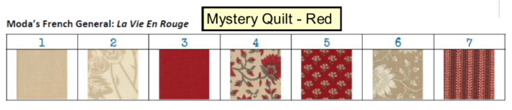 Mystery Quilt - Red