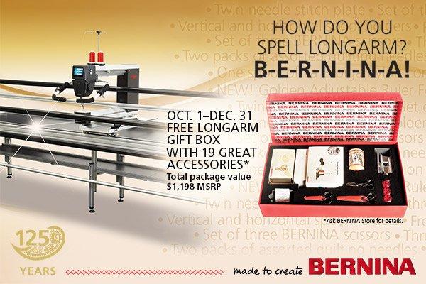 BERNINA Longarm Promotion