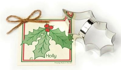 01-042 Ann Clark, Holly Leaf Cookie Cutter, Made in the USA