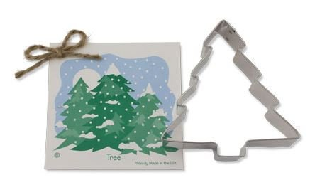 01-072 Ann Clark, Pine Tree Cookie Cutter, Made in the USA