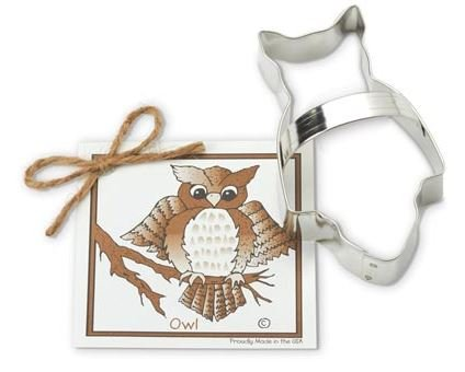 01-120 Ann Clark Owl Cookie Cutter Made in the USA