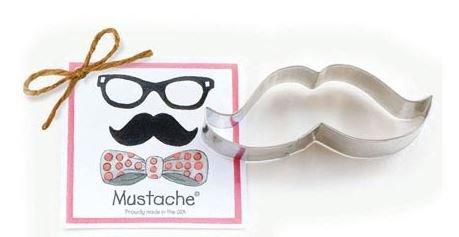 01-190 Ann Clark Mustache Cookie Cutter Made in the USA