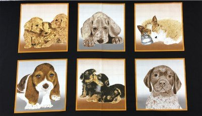 4040EQ-60968-80 Exclusively Quilters Puppy Love Puppy Blocks