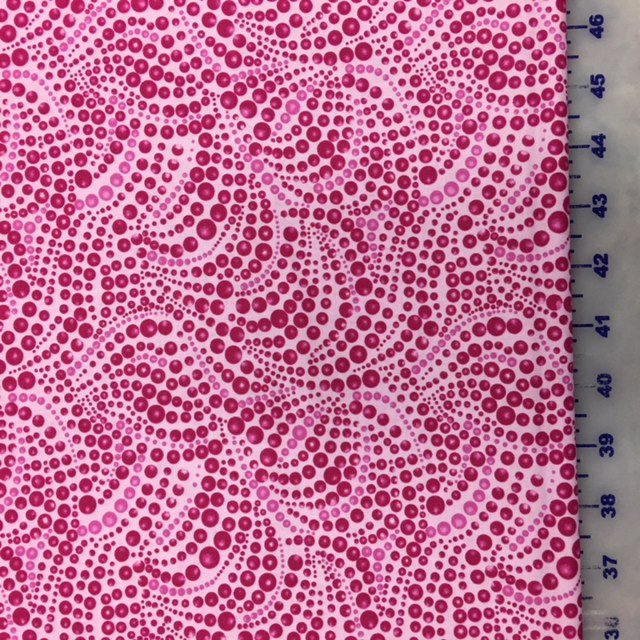 04207-22 Benartex Cat-I-Tude Pink Beaded Swirl