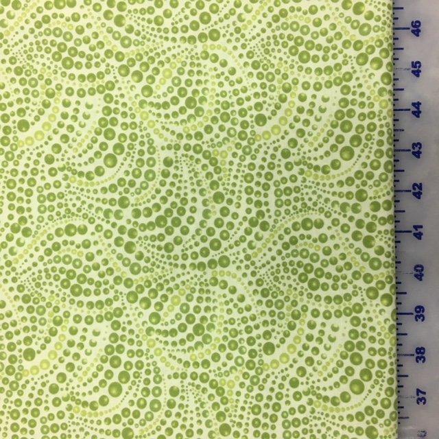 04207-42 Benartex Cat-I-Tude Lime Green Beaded Swirl