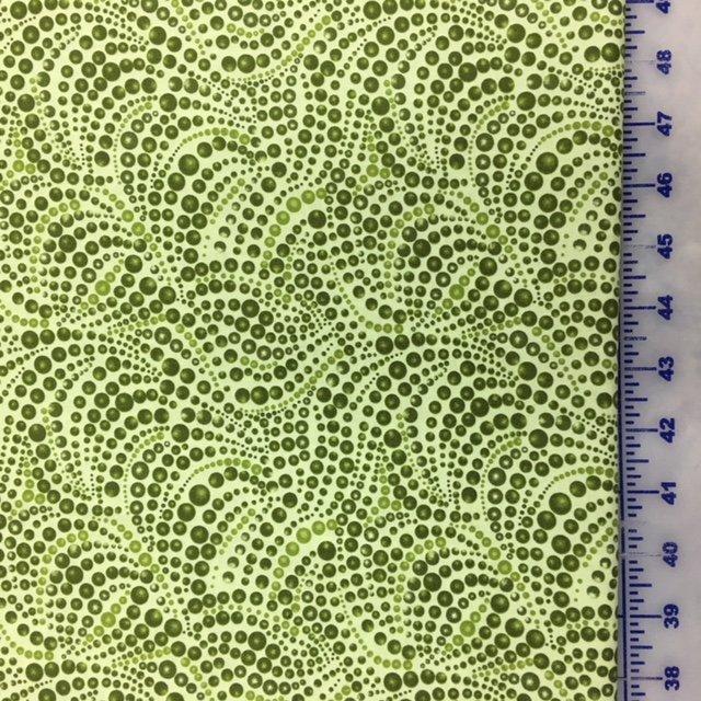 04207-44 Benartex Cat-I-Tude Pine Green Beaded Swirl