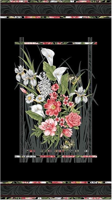 06780-12 Benartex Magnificent Blooms Panel 22 x 42.5