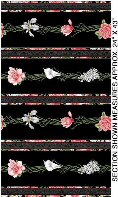 06781-12 Benartex Magnificent Blooms Border Print